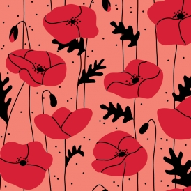 Poppies Coral