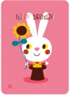 Postcard - birthday - bunny - 1