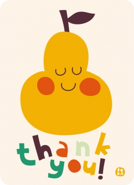 Thank you - pear